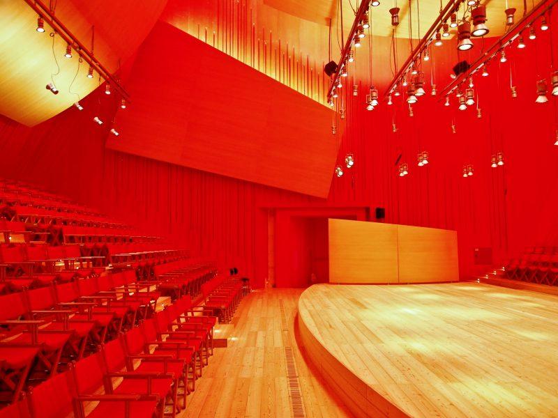 Auditorium del Parco - L'Aquila. Interno. Foto di Lorenzo Nardis per Ente Musicale Società Aquilana dei Concerti.
