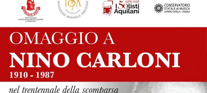 Omaggio a Nino Carloni nel trentennale della scomparsa